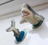 Shark wall hanging