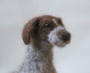 Levi the needle felted dog