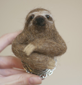 Sal the needle felted sloth