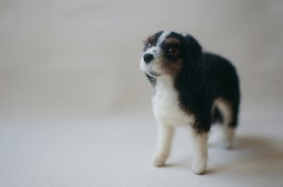 felted cavalier king charles
