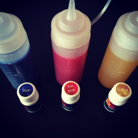 My dye stock, all ready for use. Only took me like four months to make it.