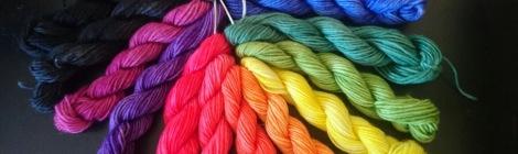 Colour wheel in yarn