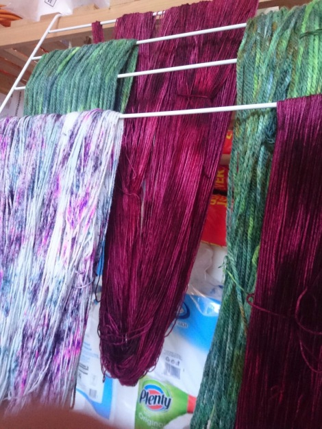 Dyed yarn drying II