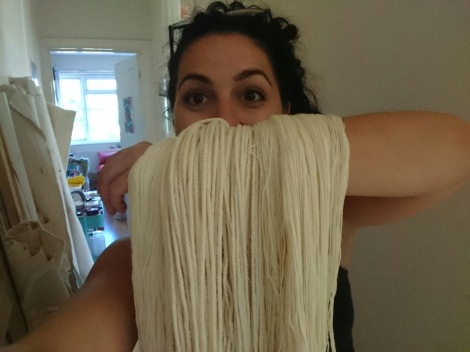 Showing off some undyed yarn