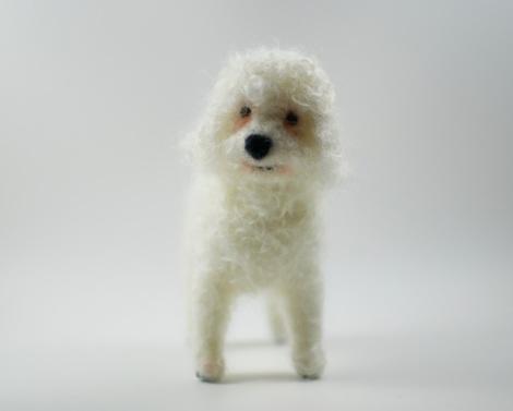 Bichon Frise needle felted dog